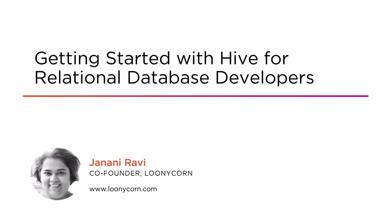 Getting Started with Hive for Relational Database Developers