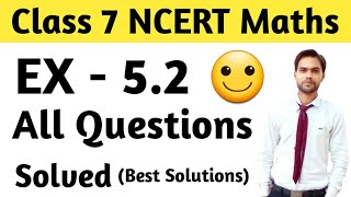 Class 7 Ex 5.2 All Question with Answer | Ncert Math class 7 ex 5.2 | Class 7 Ch 5 lines and Angles