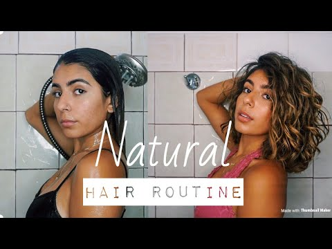 MY NATURAL HAIR ROUTINE THICK WAVY CURL | Bryana Jordyn