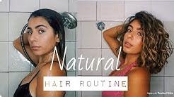 MY NATURAL HAIR ROUTINE THICK WAVY CURL | Bryana Jordyn