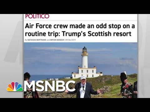 House Probes Military Travel To Troubled Trump Resort: Politico | Rachel Maddow | MSNBC