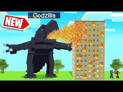 Playing As GODZILLA vs. A MINECRAFT WORLD!