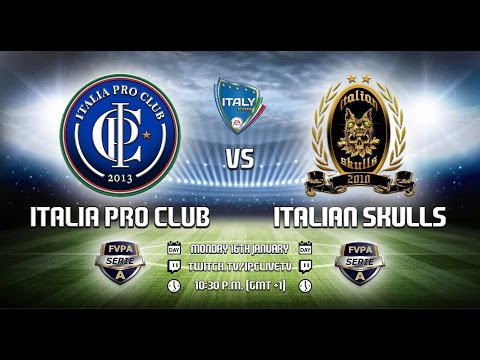 ITALIA PRO CLUB vs Italian Skulls | Serie A 2016/17 | 11th Championship Day - Full Matches