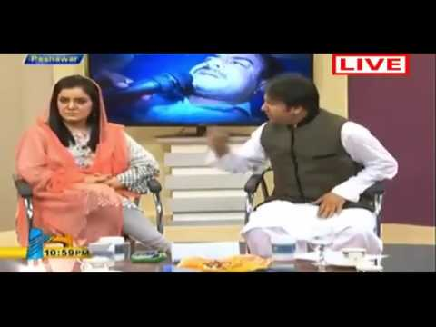 Yousaf Jan Angry in Live Program On Pashto Artists and Actor