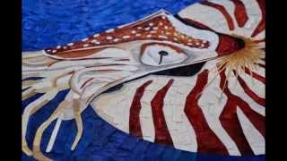 """Gambar cover Paper Mosaic by Crystal Davis. The Making of """"Archaic"""" the Nautilus.."""