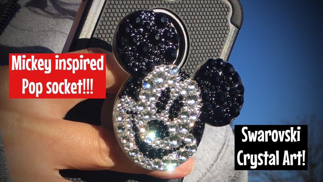 128d60c25 Handmade Mickey Mouse inspired Swarovski Crystal PopSocket Phone Grip.  Bling popsocket. Disney inspo