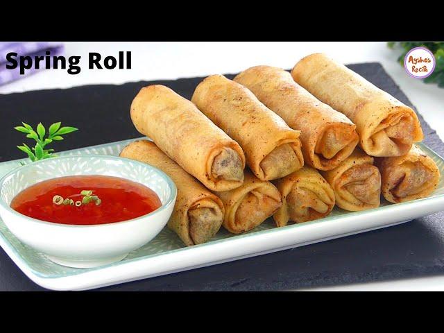 মুচমুচে চাইনিজ চিকেন স্প্রিং রোল (ফ্রোজেন পদ্ধতি সহ) | Chinese Chicken Vegetable Spring Roll Recipe