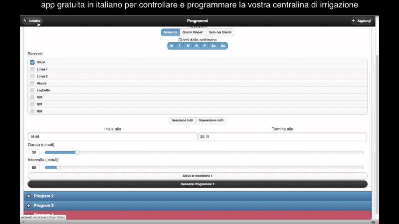 Centralina irrigazione domotica webapp italiano youtube for Centralina domotica