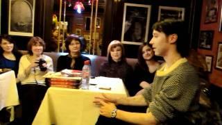 Nicknames,  Vampires, Glee, Shameless - Johnny Weir - Fan Meeting St.Petersburg 07 03 2011