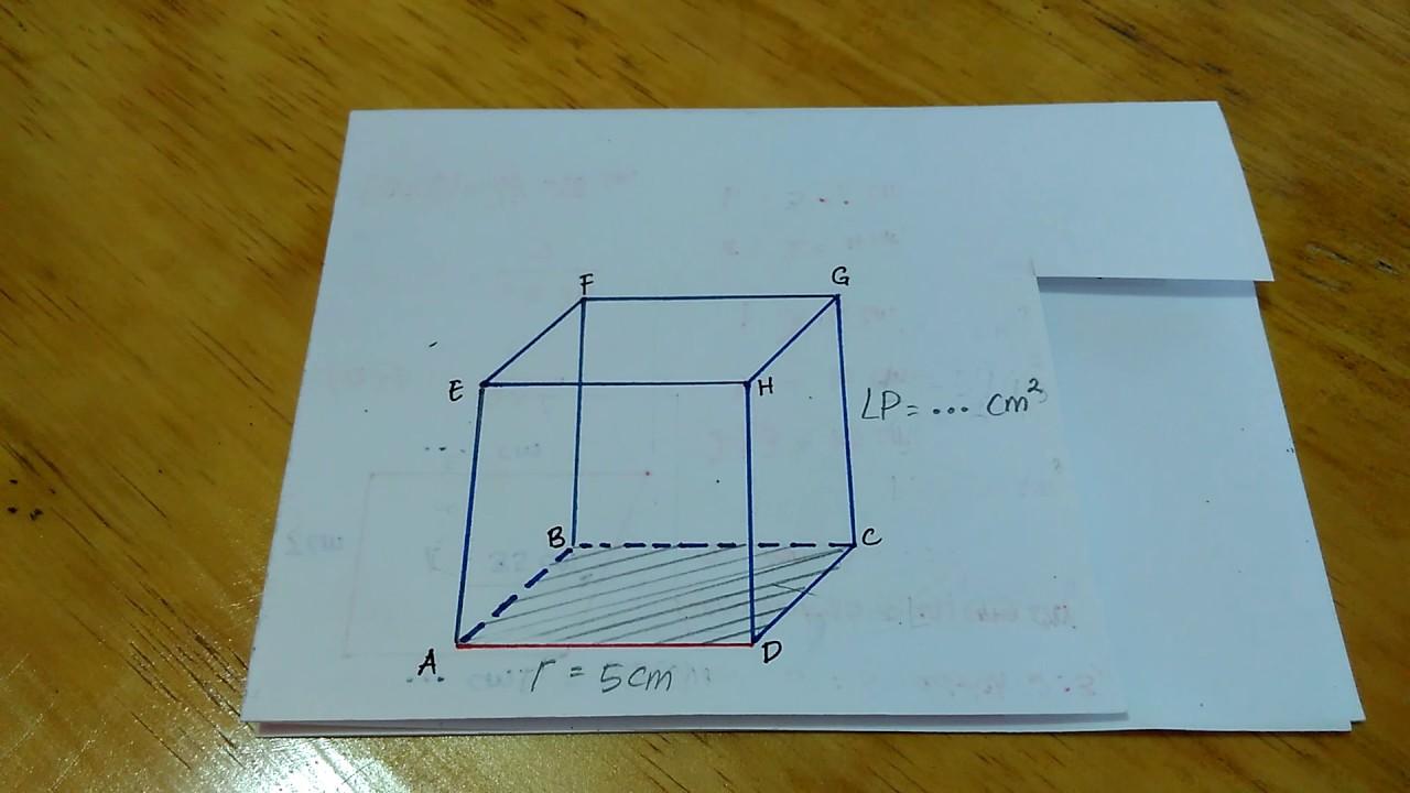 Cara Menghitung Luas Permukaan Kubus Jika Diketahui Panjang Rusuknya Youtube