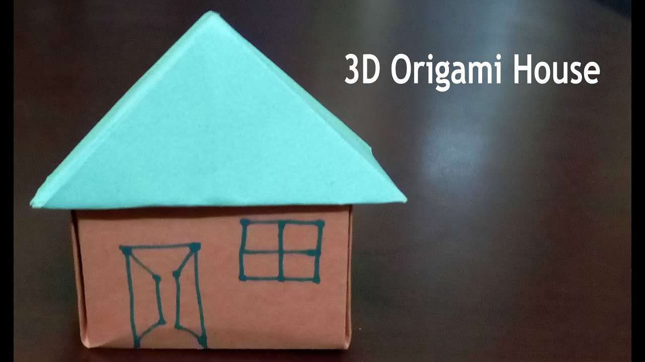 Easy origami 3d house tutorial youtube easy origami 3d house tutorial jeuxipadfo Gallery