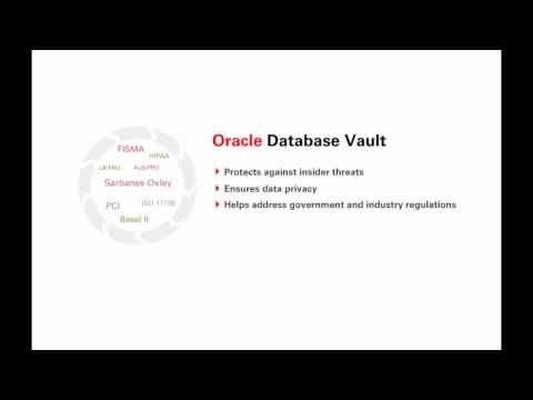 Database Vault - Security Controls