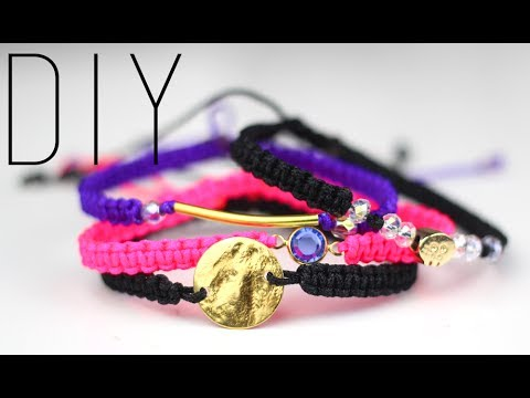tutoriel diy macrame bracelets bracelet en macram stackable bracelet friendship bracelet. Black Bedroom Furniture Sets. Home Design Ideas