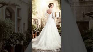 Дизайнерское свадебное платье с рукавами