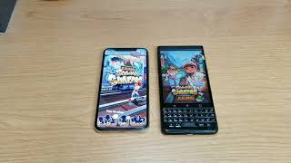 IPhone X vs BlackBerry KEYone App Opening Comparisons