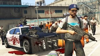 PRISON ZOMBIES APOCALYPSE!! (GTA 5 Mods)