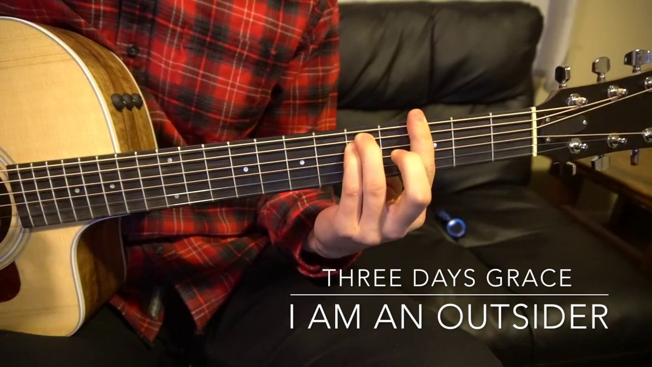 I Am an Outsider // Three Days Grace // Easy Guitar Lesson