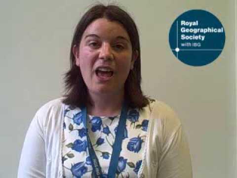 Rebecca Kitchen, winner of Ordnance Survey Award