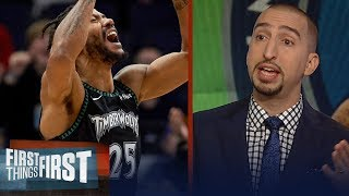 Nick Wright reacts to Derrick Rose's 50-pt game : It was a special moment | NBA | FIRST THINGS FIRST