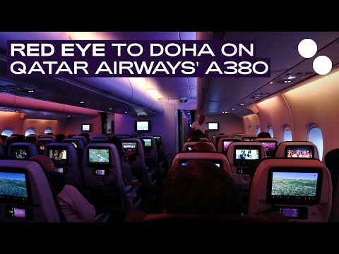 QATAR AIRWAYS A380-800 ECONOMY QR42 DOHA - PARIS