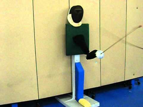 Fencing Arm Wall Target For Foil And Epee Point Control