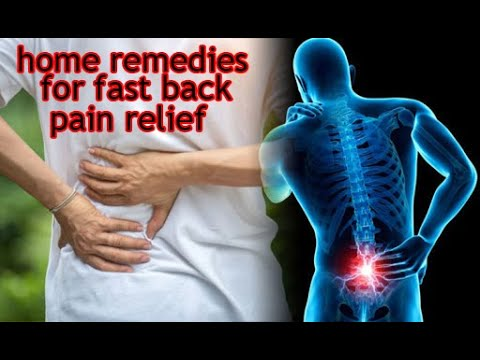 healthy life home remedies for fast back pain relief