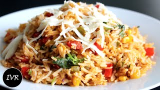 """Cheese Vegetable Rice Recipe"" 