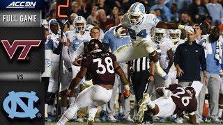 Virginia Tech vs. North Carolina Full Game | 2018 ACC Football