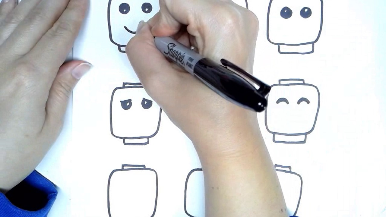 How to draw lego faces