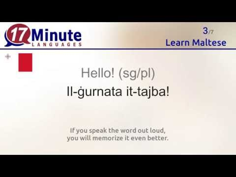 Learn the 30 most important words in Maltese!