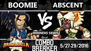CB2016 - Boomie (Koji) Vs. Abscent (Gnash) Brawlhalla Winners Semis