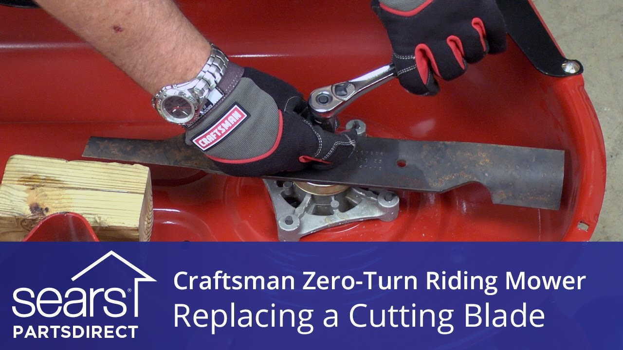 How to Replace a Craftsman ZeroTurn Riding Mower Cutting Blade  YouTube