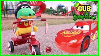 Family Fun First Bike Ride with Disney Cars 3 Lightning McQueen