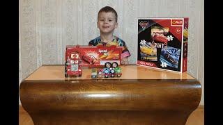 Маквин Машинки, Томас и его друзья / mcqueen puzzle  4+ / Пазлы для детей 4+