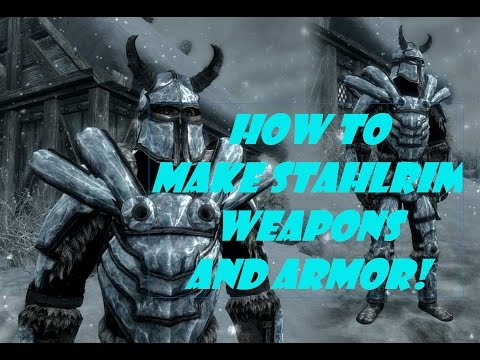 Skyrim: Dragonborn DLC - How To Make Stalhrim Weapons and Armor! COMPLETE GUIDE! (XBOX ONE)