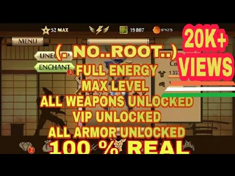 Shadow Fight 2 (NO..ROOT.) VIP UNLOCK All Weapons,All Armor,Money,Full Energy,Magic FullHack