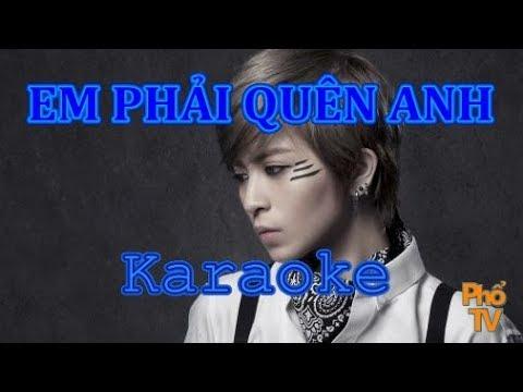 Em Phải Quên Anh (Beat Karaoke) TÁCH LỜI - Gil Lê