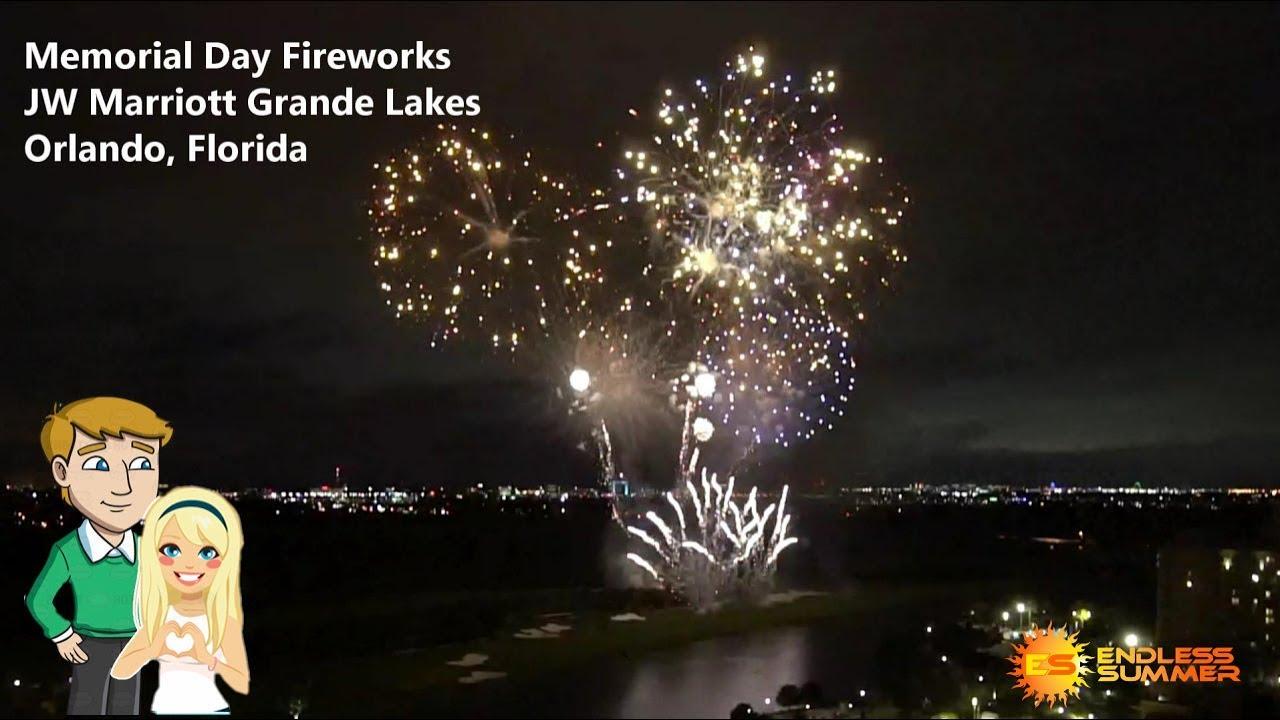 JW Marriott Grande Lakes Orlando - Fireworks Memorial Day (2018)