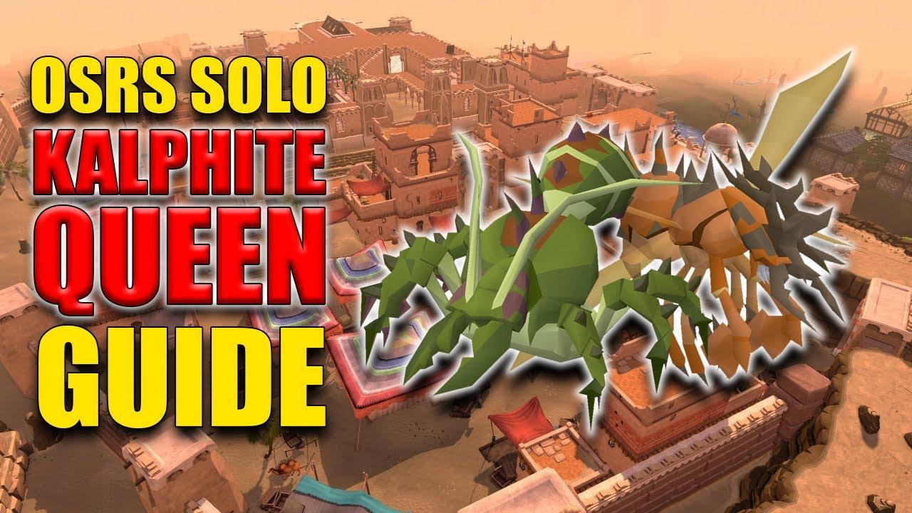 English In Italian: OSRS Solo Kalphite Queen Guide W/ 100 Kills Loot (Boss