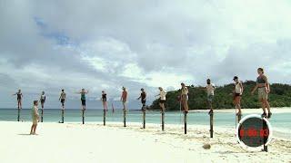 Balanstävling avgör vilka nio som får följa med till sammanslagningen  – Robinson (TV4)