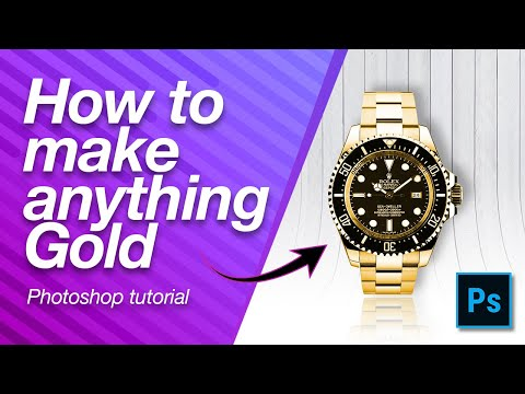 How To Make Anything GOLD In Photoshop - 1 Minute Tutorial