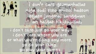 2NE1 - I Don't Care [karaoke] Rom/Eng version