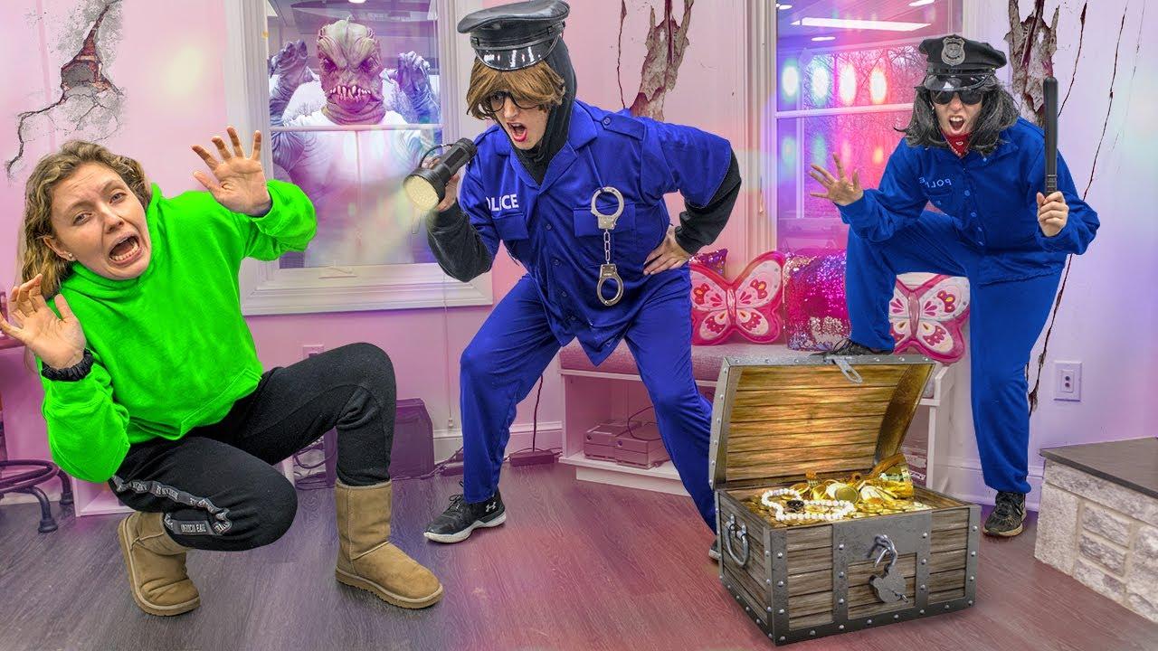 Police Break into Sharer Fam House Undercover to ARREST Pond Monster ($10,000 Treasure Chest Stolen)
