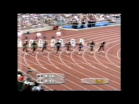 1992 Olympics Men's 100m Final, Barcelona, Spain