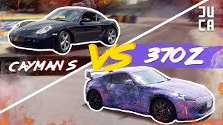 MI CAYMAN S vs 370Z DE BERTH! (Drift, Drag, Hot Lap) | JUCA