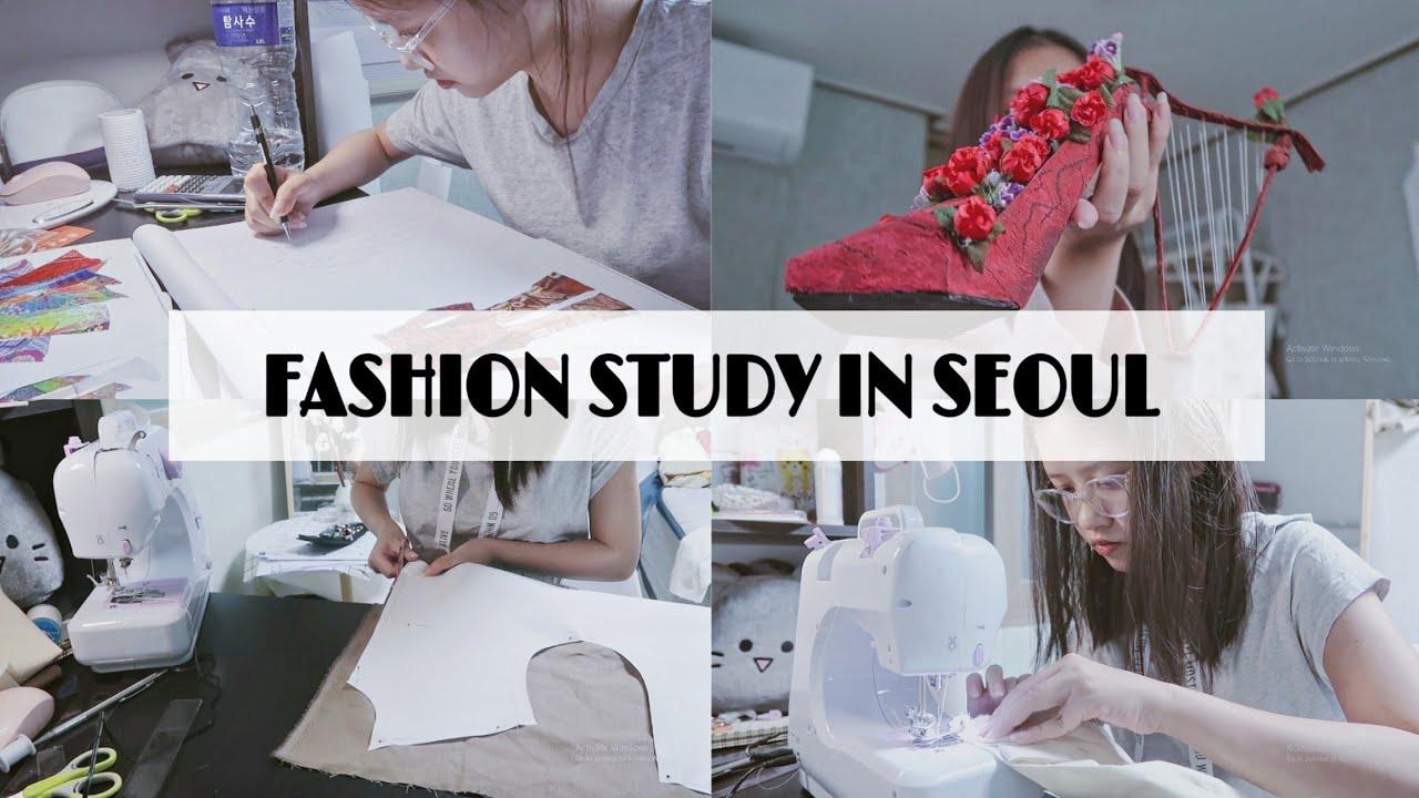 LIFE OF A SEOUL FASHION STUDENT // thiết kế, in 3D, cắt may sản phẩm cuối kì | Ly Nguyễn | Bao quát các thông tin nói về học thiết kế thời trang đầy đủ