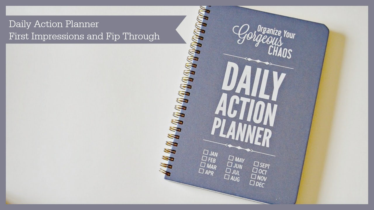 daily action planner first impression youtube