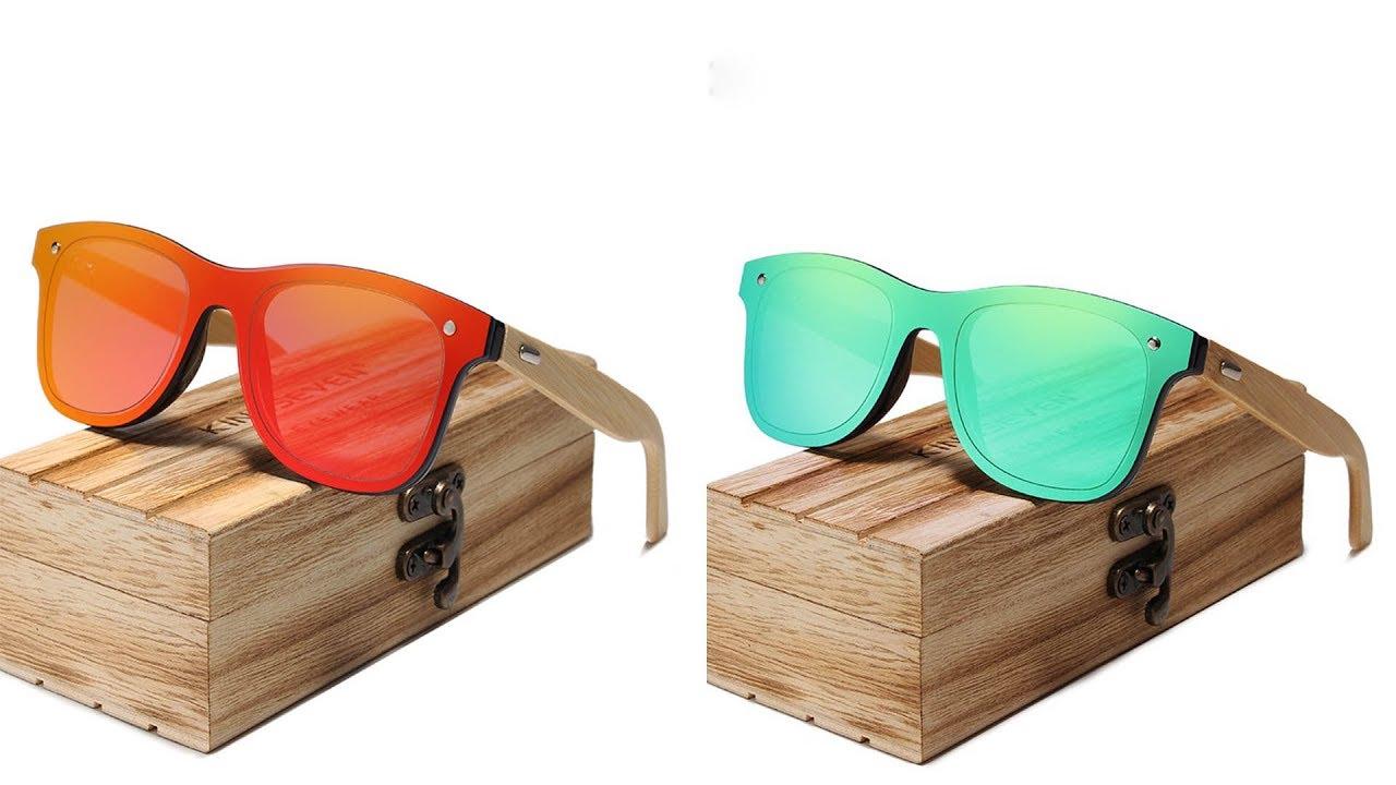 Top Sunglasses Men Brand Designer Kingseven Original Wood Glasses