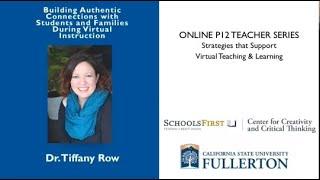 K12 Online Teaching Webinars: Building Authentic Connections