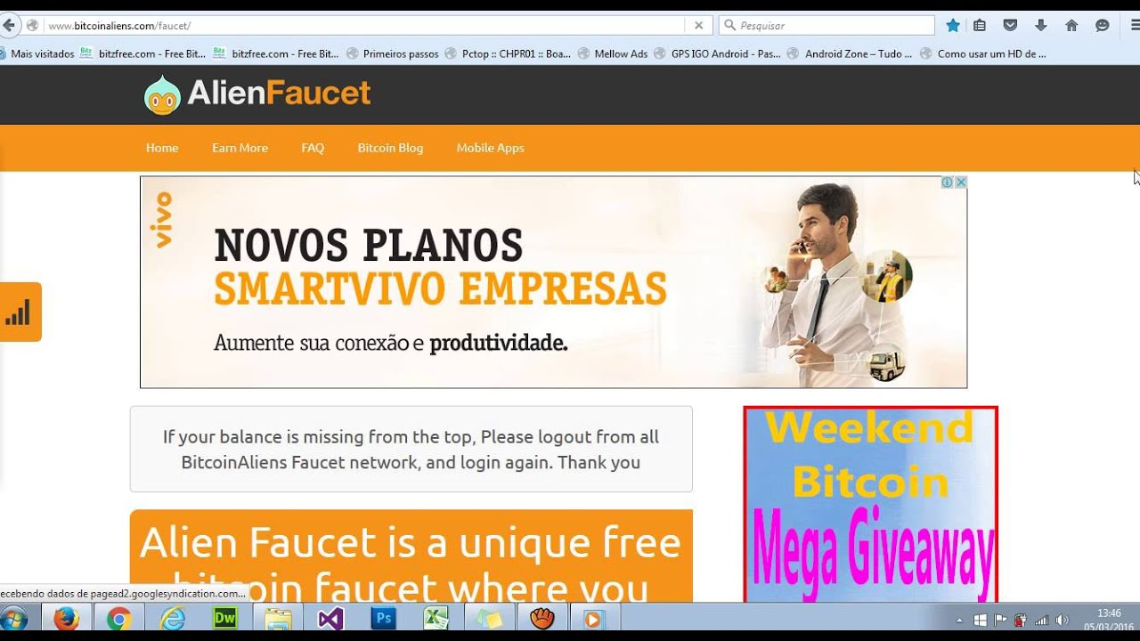 alien faucet Bitcoins free Earn Satoshi Now !!! - YouTube